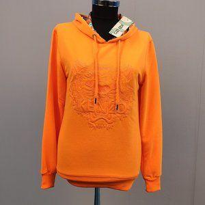 Kenzo Women Neon Orange NWT Hoodie Sweatshirt